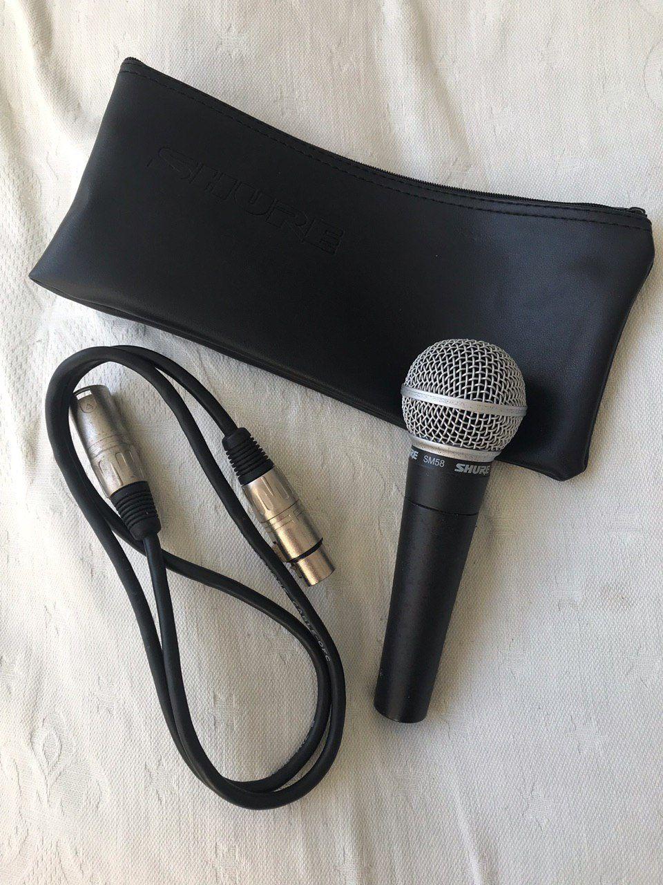 Microfone <usado> classicão Shure SM58 + cabo XLR 1 metro