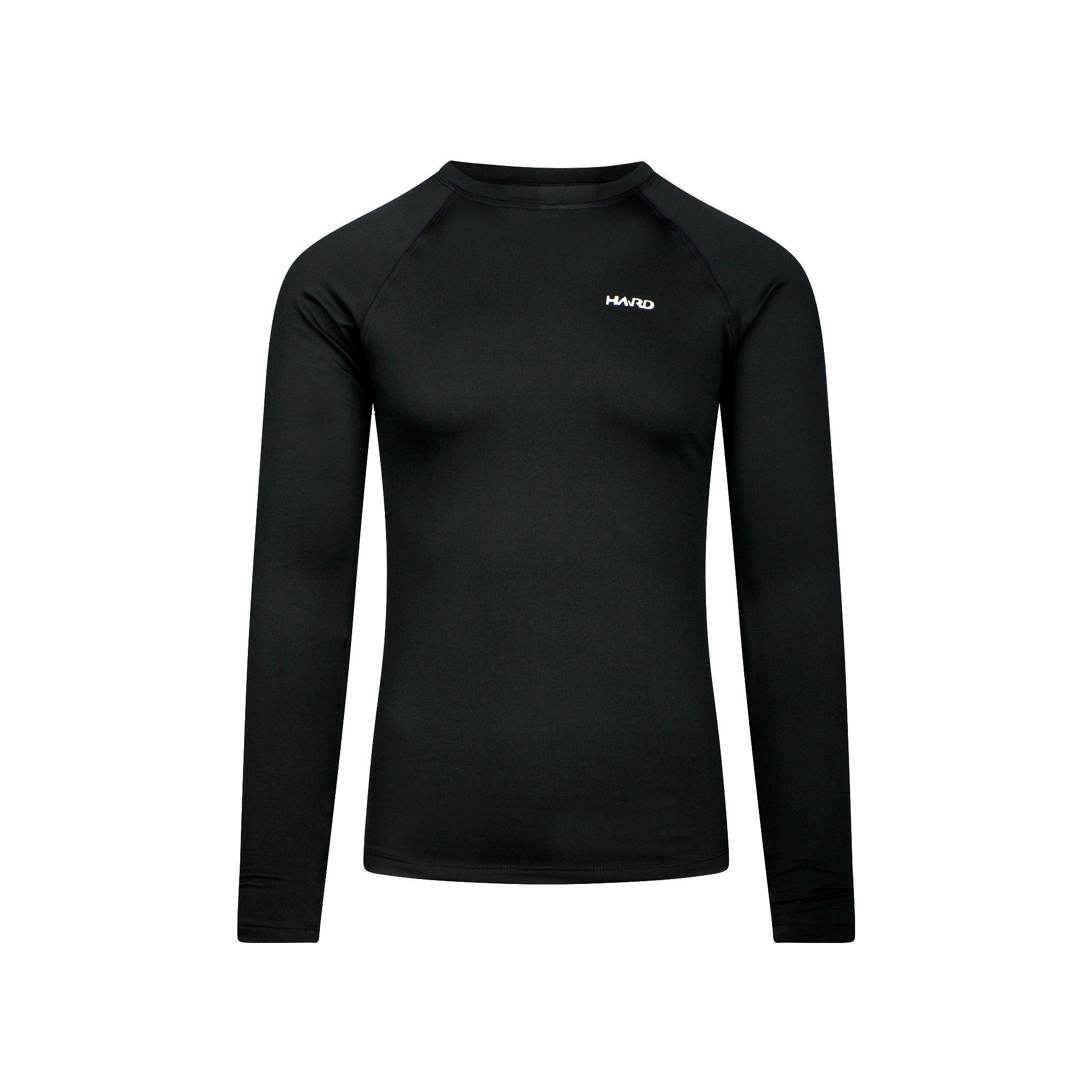 Camiseta Segunda Pele Masculina Hard Mountain Skin -  Preta