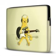 Capa para Notebook 17 polegadas Cat Guitar com ziper