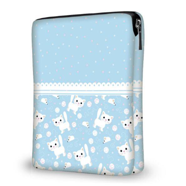 """Capa de Tablet - Ipad 10"""" Blue Cat"""