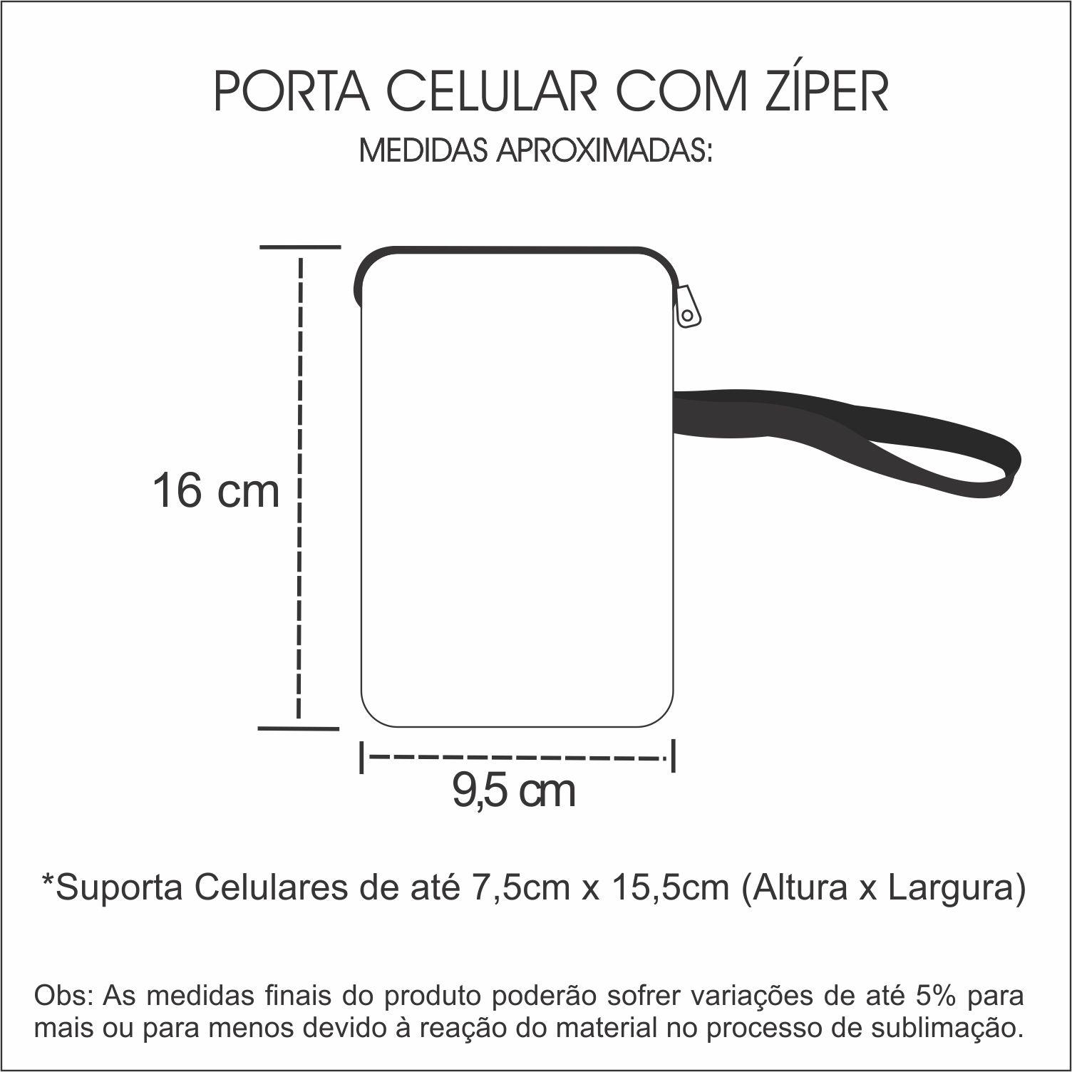 Case para Smartphone com Zíper Abraço