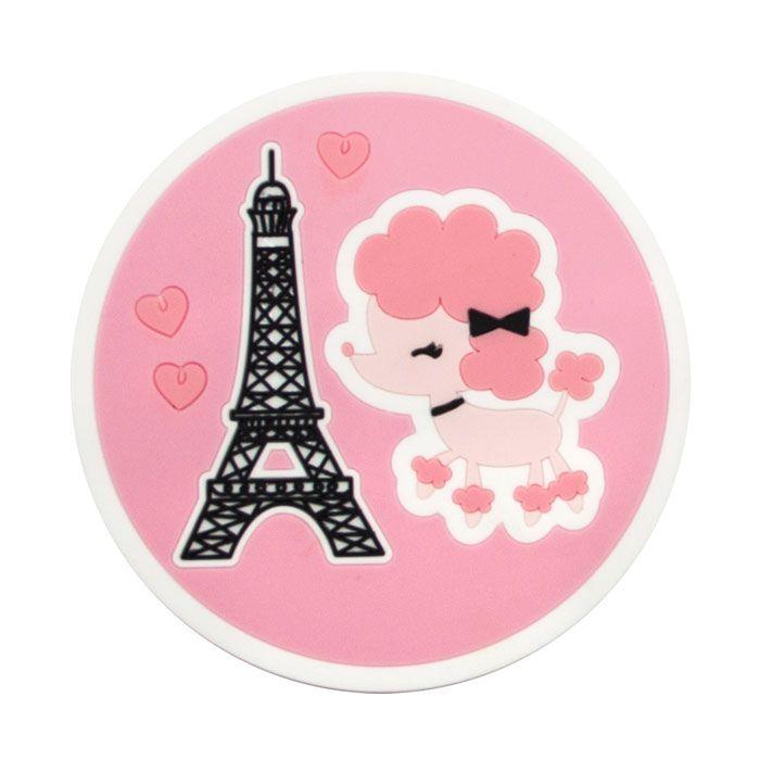 Porta Copos Poodle Paris