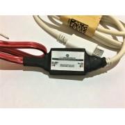 AU 19 retrátil  - Conversor DC/DC 12 ou 24V para 5V-2A MICRO USB