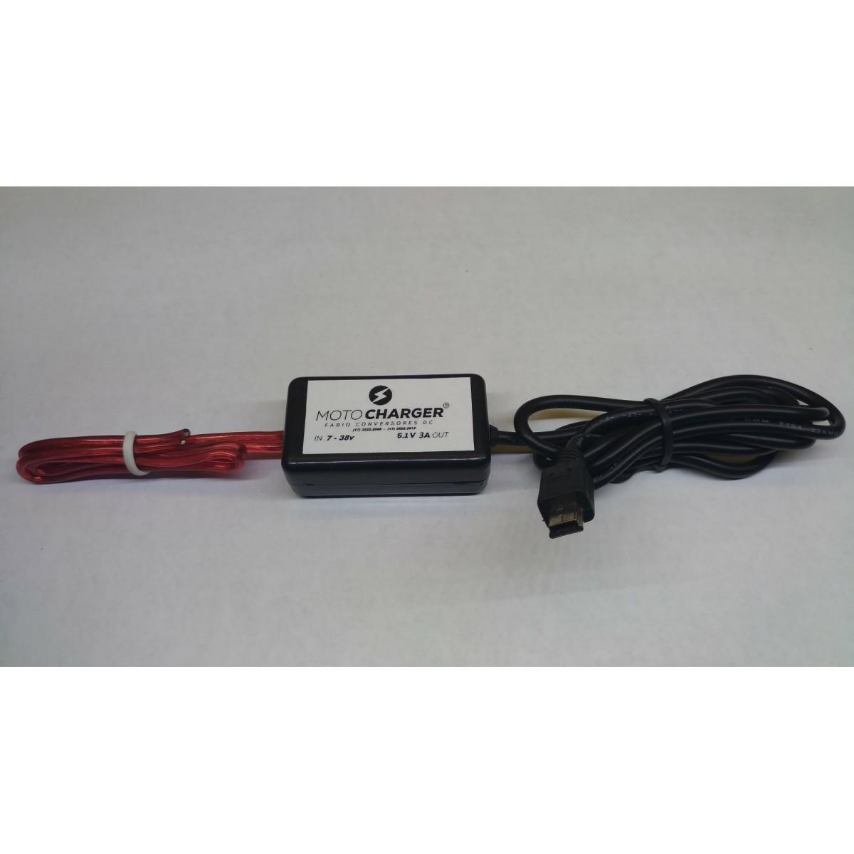 AU 26 - Conversor DC/DC 12V ou 24V para 5V-3A MINI USB