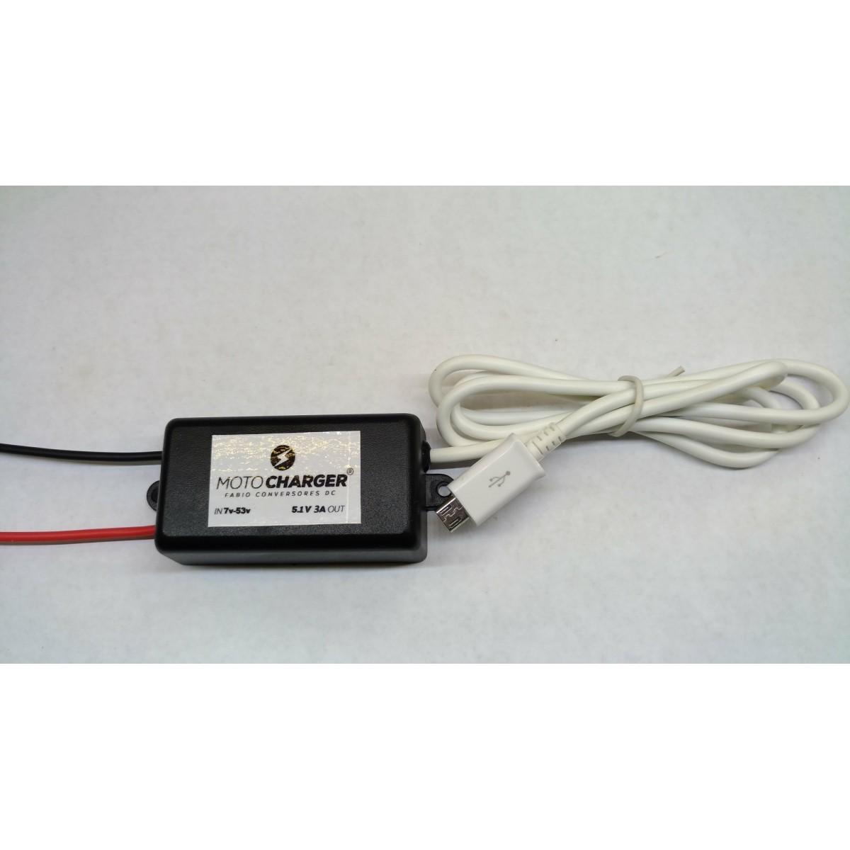 AU 03 - Conversor DC/DC de 48V para 5V-3A - Micro USB -V8