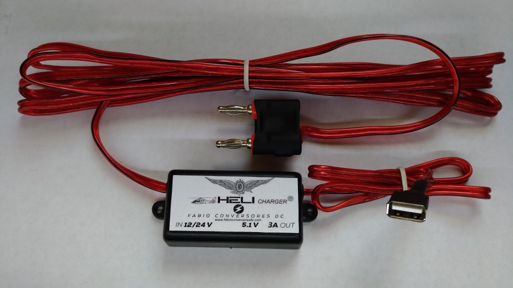 Heli-Charger (especifico para helicópteros 12v ou 24v) - Conversor AC-DC para DC Hei Charger 12V - 24v - 36v para 5,1V -3A max