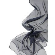 Echarpe Chiffon Colorida 180x55cm - Navy