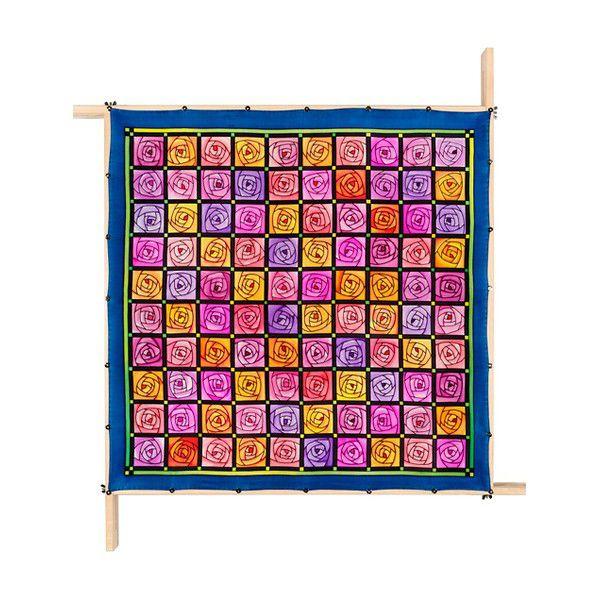 Lenço Guttado 90x90cm - Rose Patch