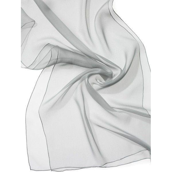 Echarpe Chiffon Colorida 180X55cm - Gull Grey