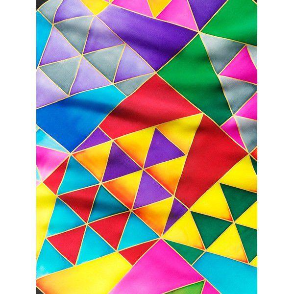 Lenço Guttado 55x55cm - Triangles
