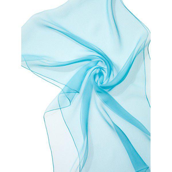 Echarpe Chiffon Colorida 180x55cm - Turquoise