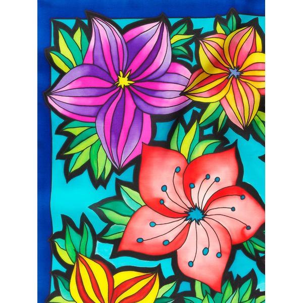 Lenço Guttado 55x55cm - Bouquet