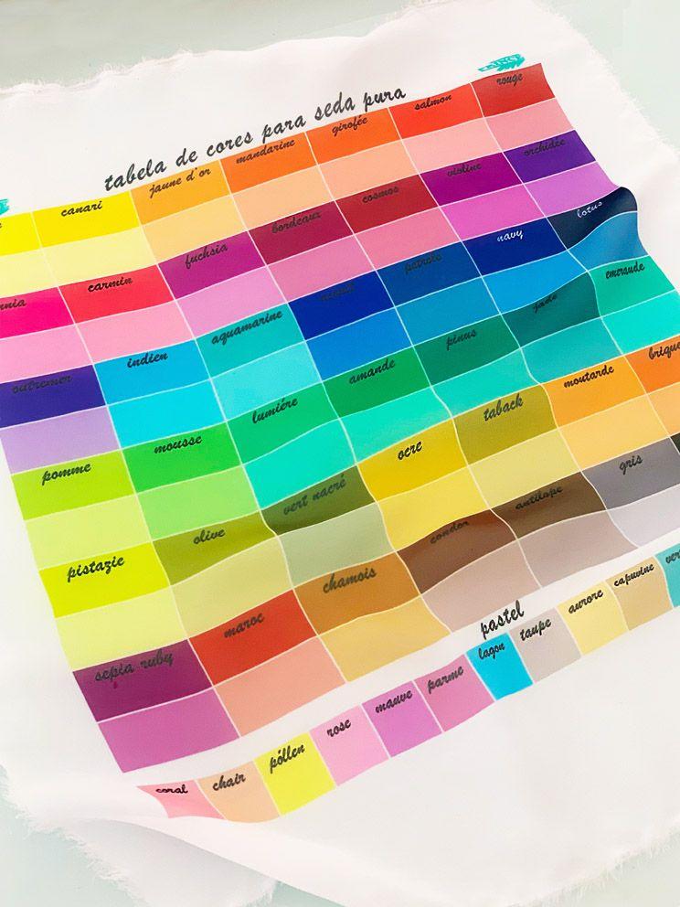 Kit completo de aquarelas 63 cores110ml: Compre e Ganhe 2,0M DE SEDA PONGE 5 + UMA TABELA DE CORES IMPRESSA NO TECIDO