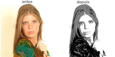 Posterização e Impressão da TUA foto para a técnica do retrato