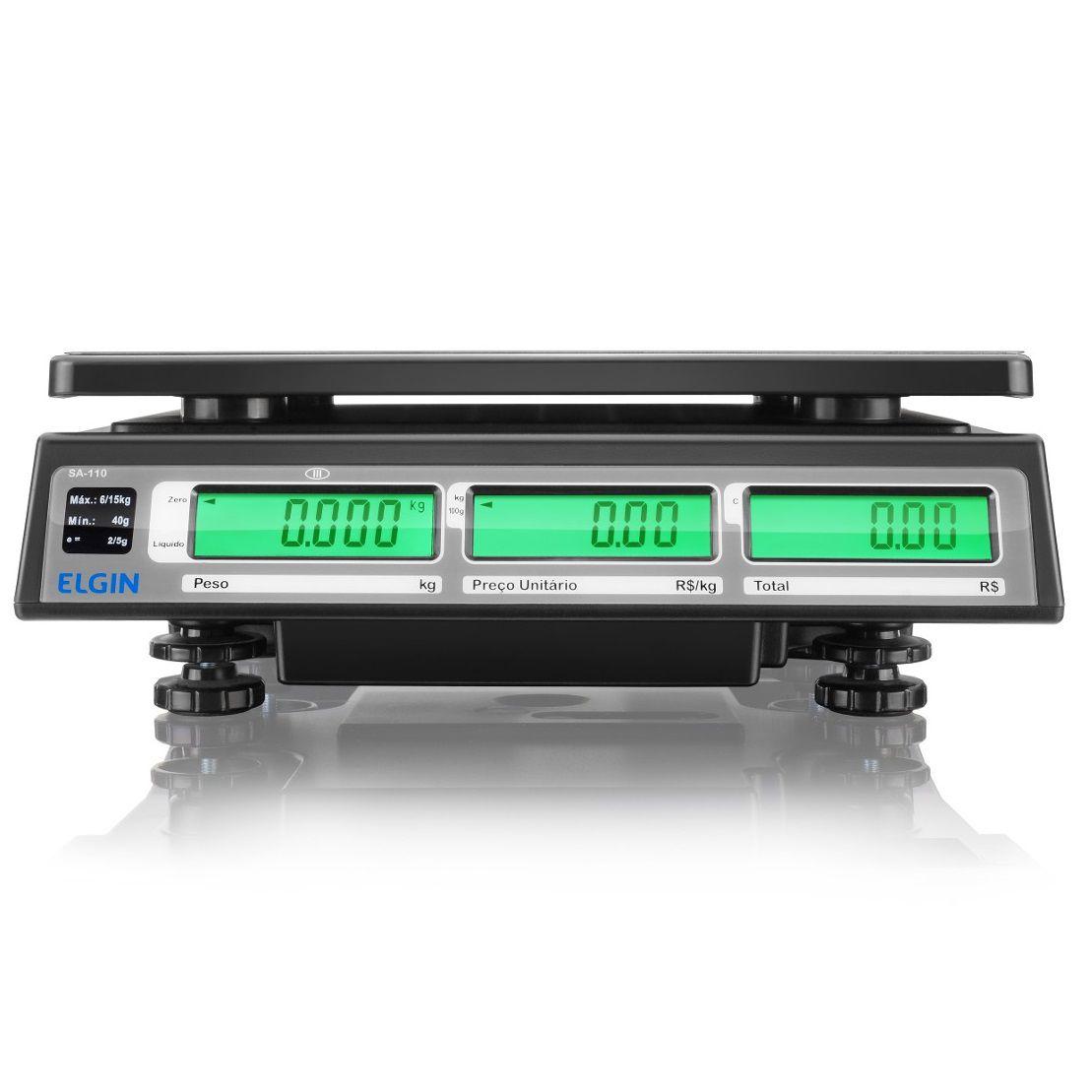 Balança de Bancada Elgin SA110 (15Kgx5g)