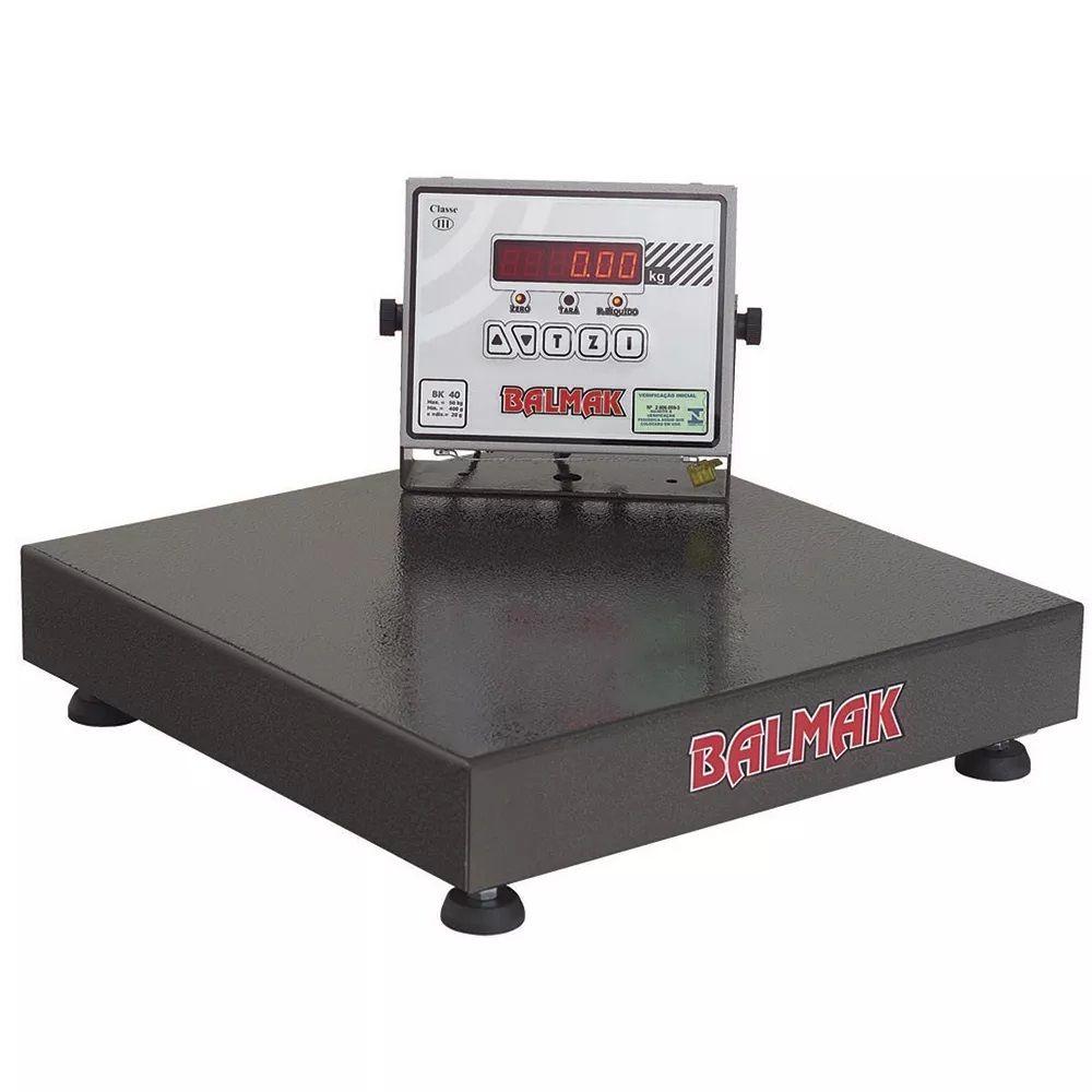 Balança de Plataforma Aço Carbono Balmak BK-50 (150Kgx50g) (50cmx50cm)