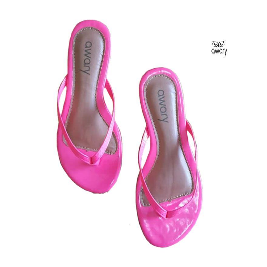 Rasteira Awary  Neon Rosa