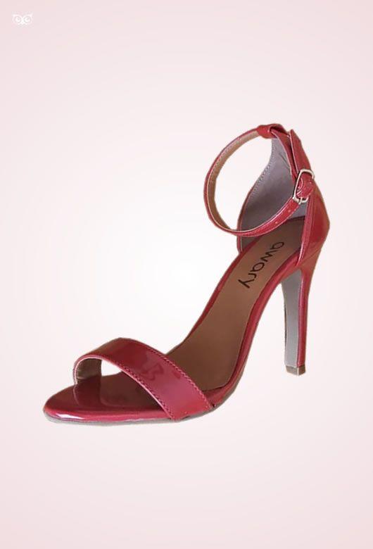 Sandália Awary Vermelha Verniz