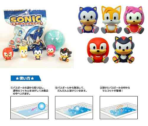Sonic The Headgehog Bath Ball Sonic Figure Pack Com 5 Bolas