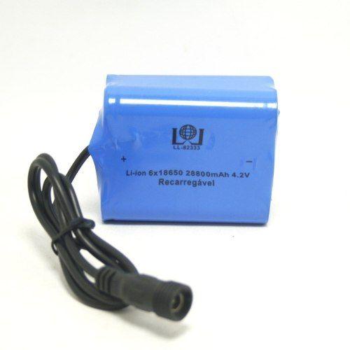 Bateria Para Farol De Bike 4.2v Pack 6x18650