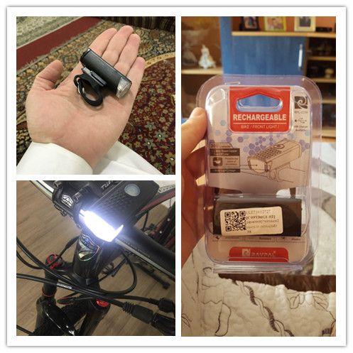 Farol de Bike Bateria embutida Raypal Led  300 lúmens