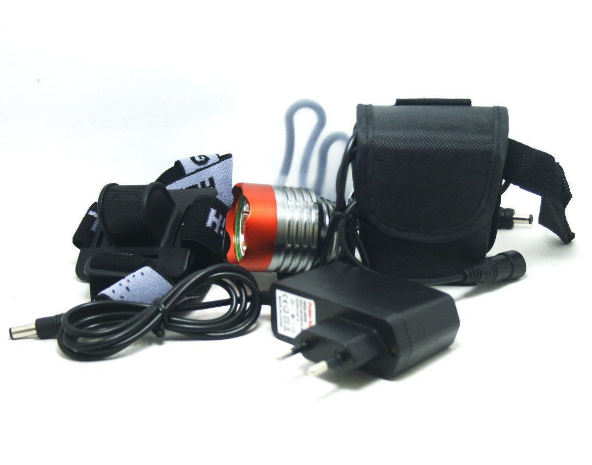Farol Led Para Bike 1800 Lúmens - 9600mah (6 células)  Walkefire