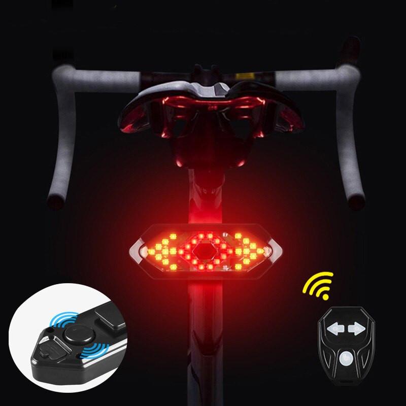 Lanterna Traseira com Seta de Segurança para Bicicleta Wasafire