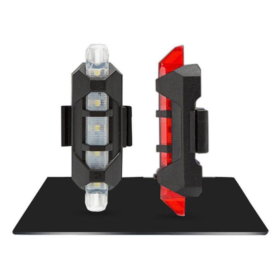 Par de Lanternas Traseira Para Bike Led Recarregável USB