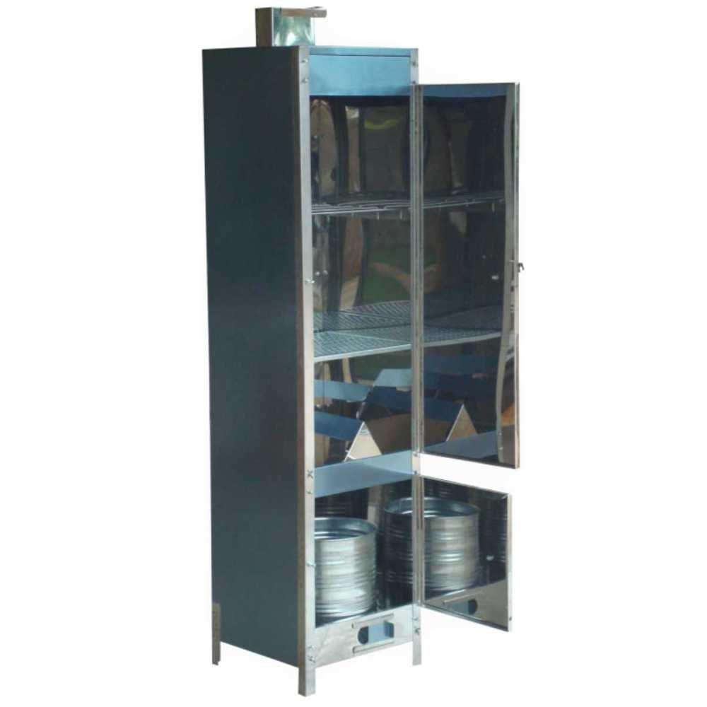 Defumador Inox Para 30 Kg de Alimentos Tamanho 160x41x41