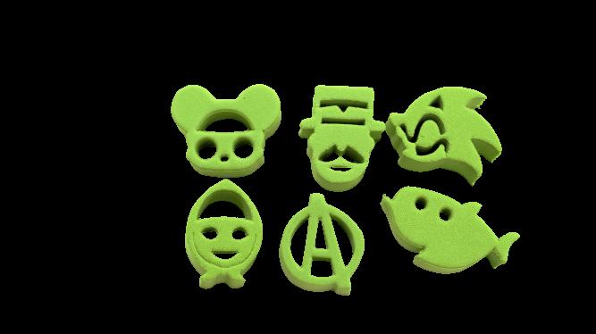 Kit de carimbos p/ pintura facial Coleção Verde Claro