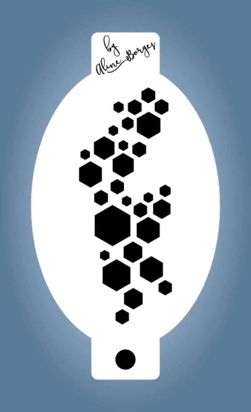 Stencil Textura Colmeia