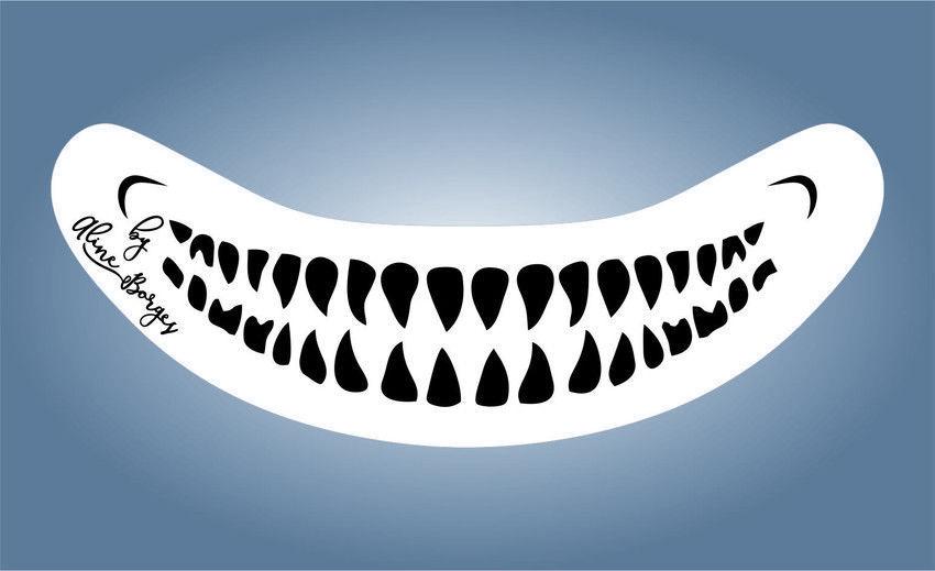 Stencil Dente Palhaço Do Mal (infantil)