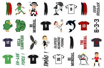 Tatuagens Temporárias 32 pçs - Futebol Paulista