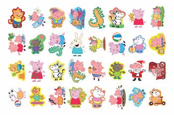 Tatuagens Temporárias 32 pçs - Pink Pig