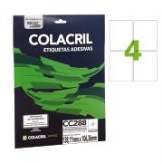 Etiqueta Carta 138,11mm x 106,36mm 25 folhas CC288 Colacril