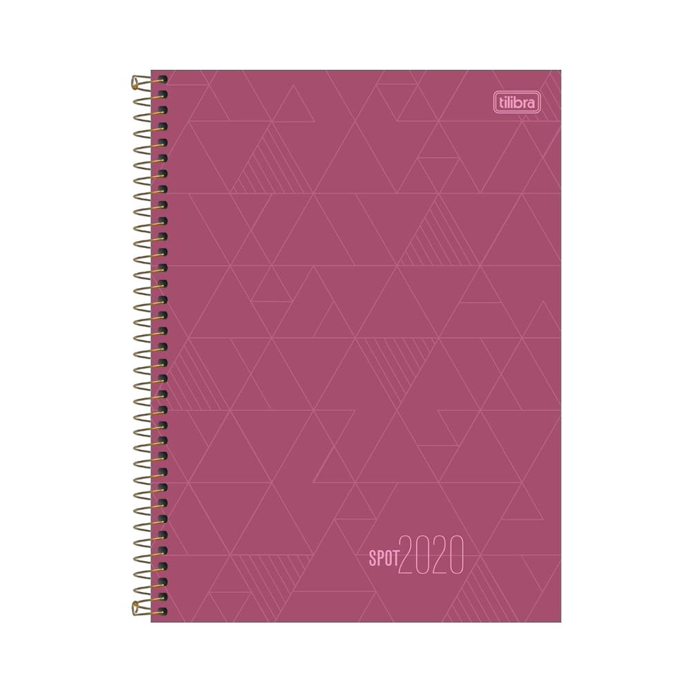 Agenda Executiva Espiral Diária de Mesa Spot Feminina 2020 Tilibra