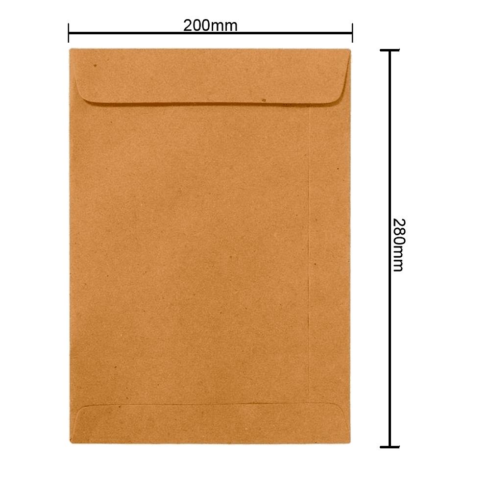 Envelope Kraft 200mm x 280mm 80g 250 und Ipecol