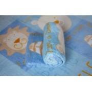 Cobertor Bebê Zoo Azul
