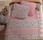 Kit Baby 3 peças para berço padrão americano - 100% em malha de algodão - Baby Córnio
