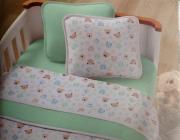 Kit Baby 3 peças para berço padrão americano - 100% em malha de algodão - Patinhas