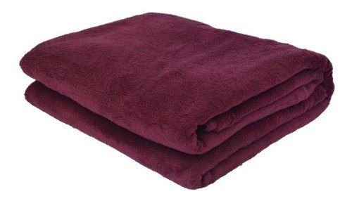 Cobertor microfibra Plush vinho tamanho sofá/viagem