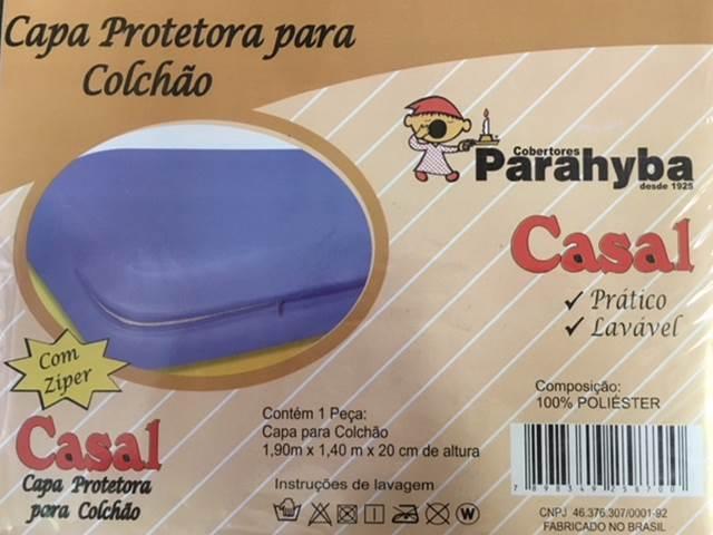 Capa Protetora Para Colchão de Casal-GRÁTIS UMA CAPA PROTETORA DE TRAVESSEIROS COM ZÍPER-BRANCA OU BEGE