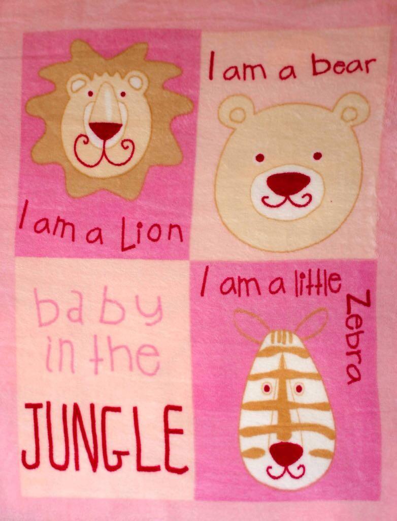 Cobertor Bebê Zoo Rosa