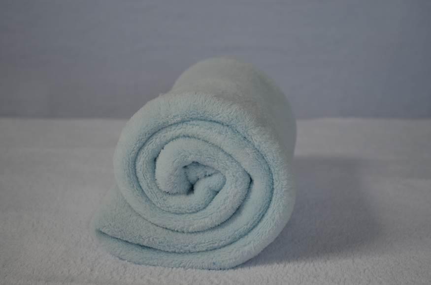 Cobertor Microfibra Berço Liso Azul