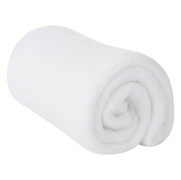 Cobertor Microfibra Infantil Liso Branco