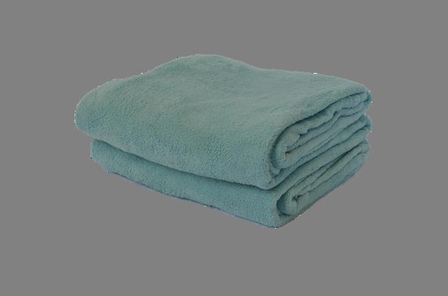 Cobertor Microfibra Plush Azul Claro