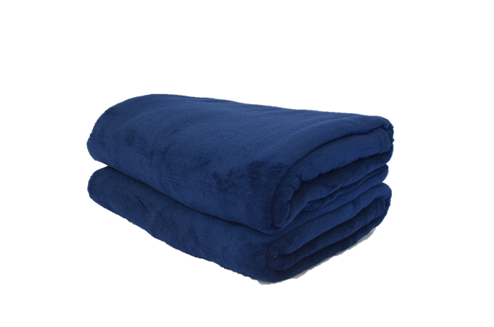 Cobertor Microfibra Plush Azul Marinho