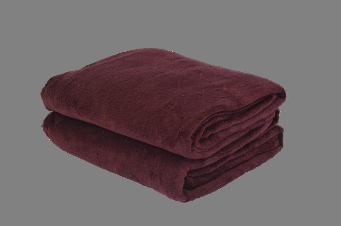 Cobertor Microfibra Plush Bordô