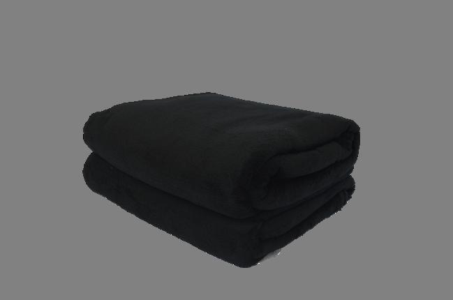 Cobertor Microfibra Plush Preto