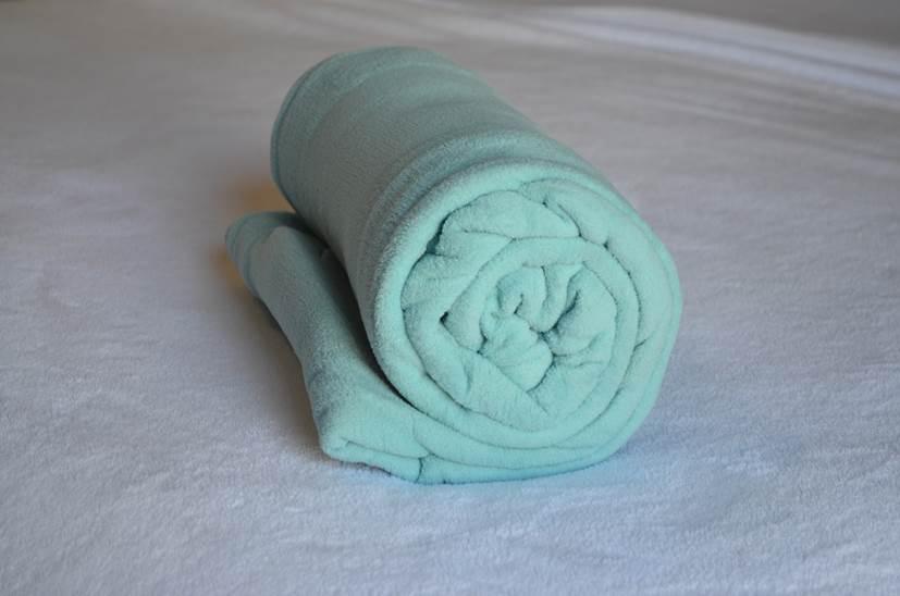 Cobertor Microfibra Plush Verde Água